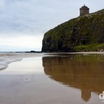 Another well-known Game of Thrones scene location, Mussenden Temple as seen from Downhill Beach, Co. Antrim, Northern Ireland. August 25, 2014.