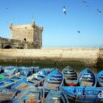 A section of the port of Essaouira, Morocco. May 3rd, 2014.