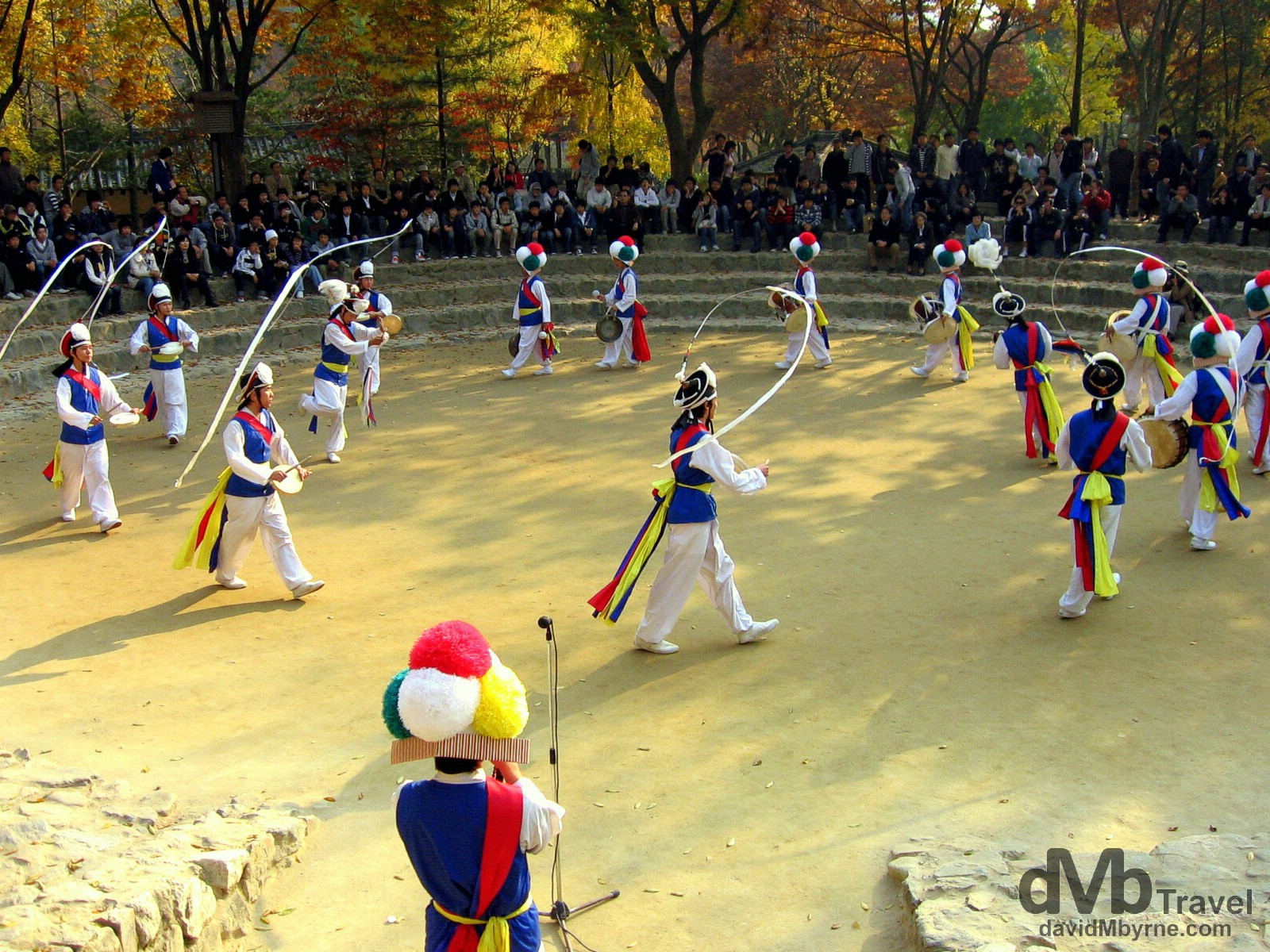 The Farmer's Dance display at the Folk Village in Yongin, South Korea. November 7th, 2007.