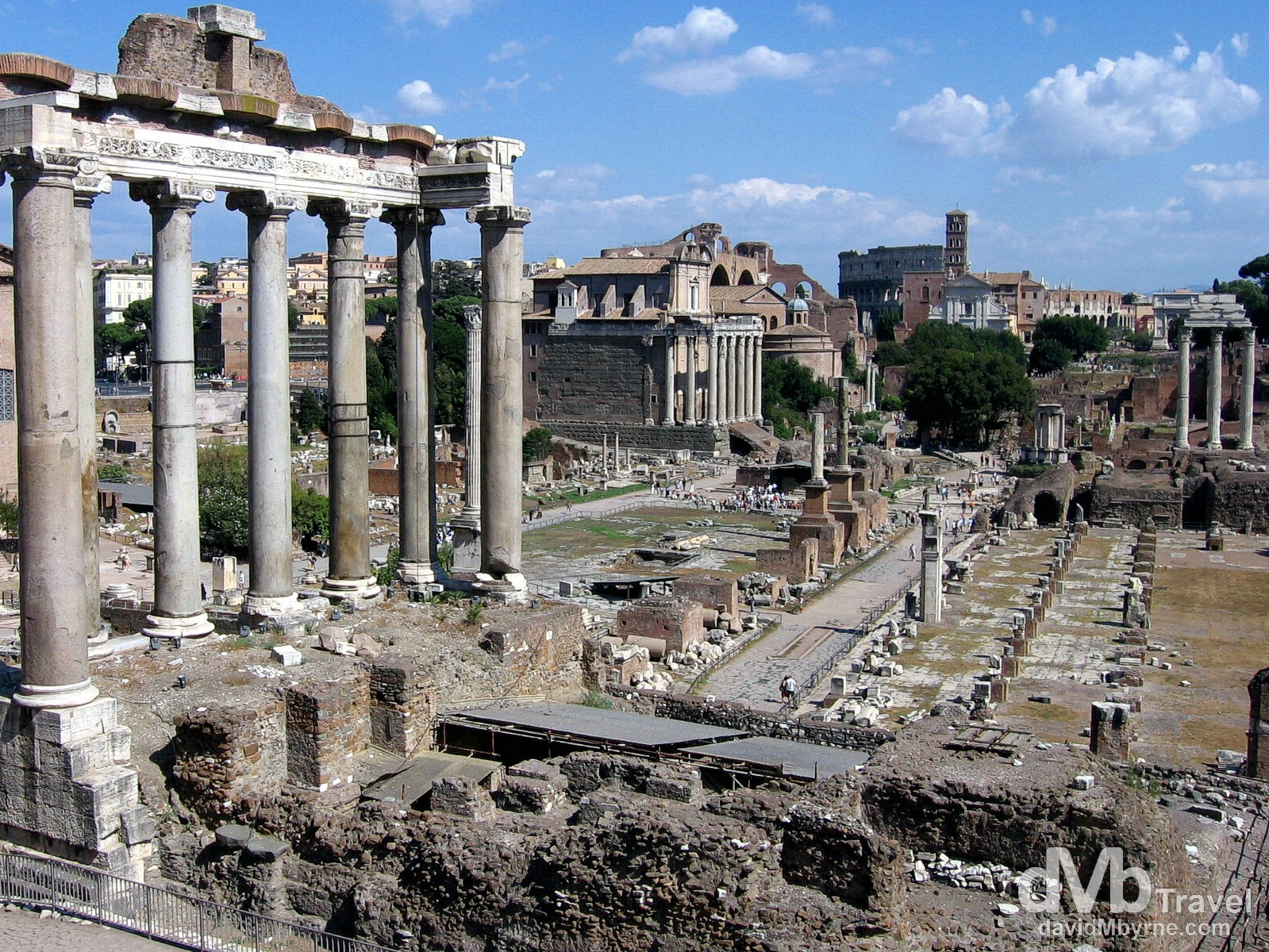 The ancient Roman Forum in Rome, Italy. September 2nd, 2007.