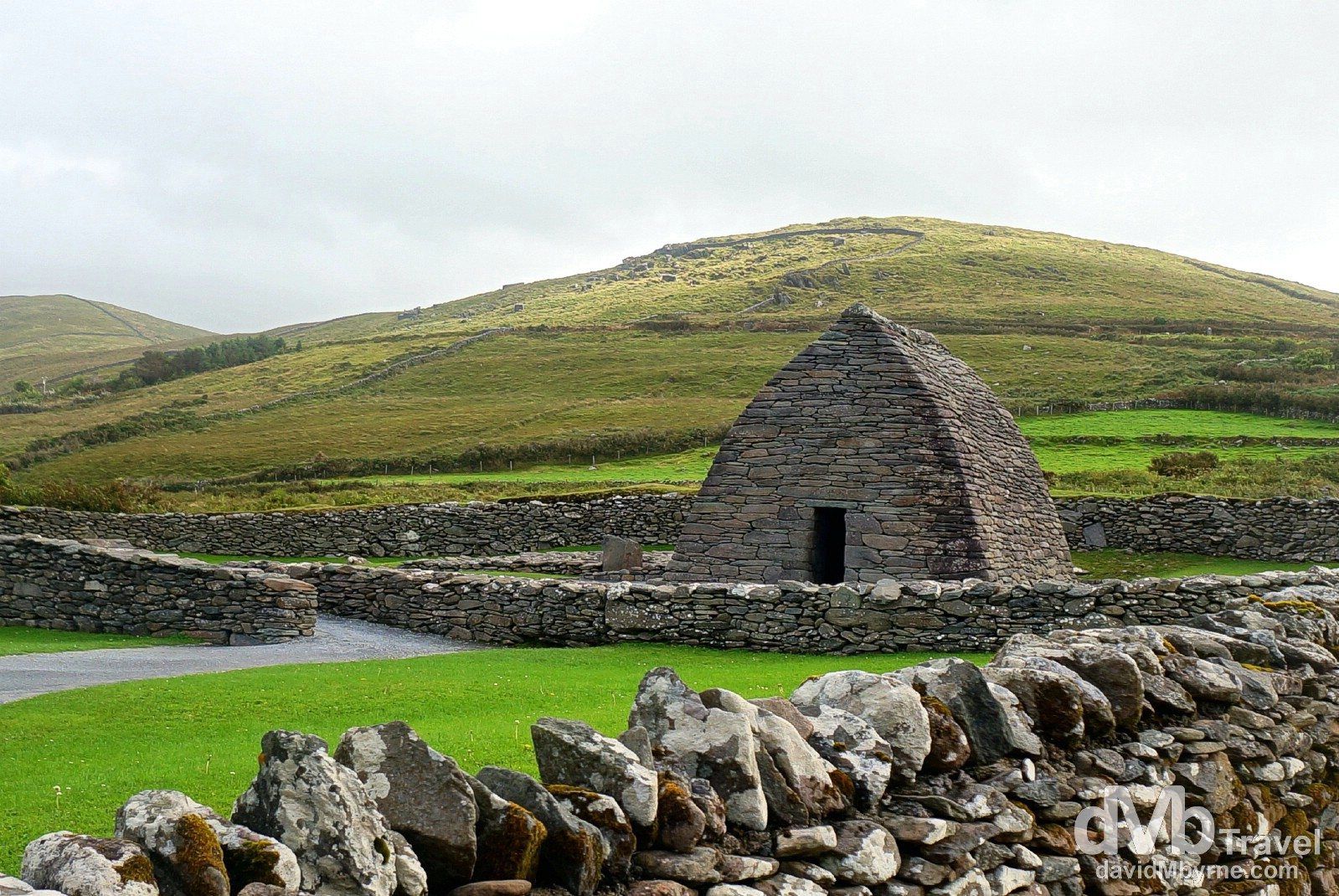 Gallarus Oratory, Dingle Peninsula, Co. Kerry, Ireland. August 28, 2014.
