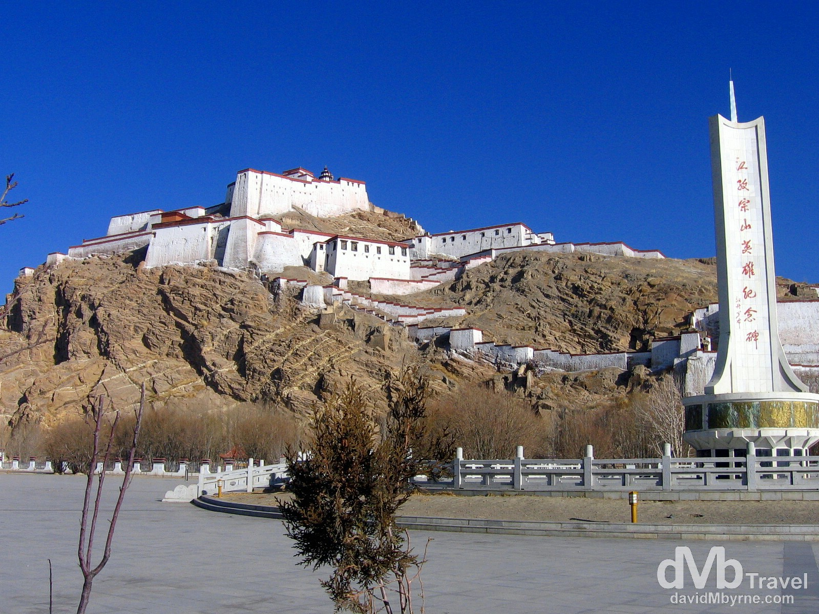 Dzong, the Old Fort in Gyantse, Tibet. March 1st, 2008.