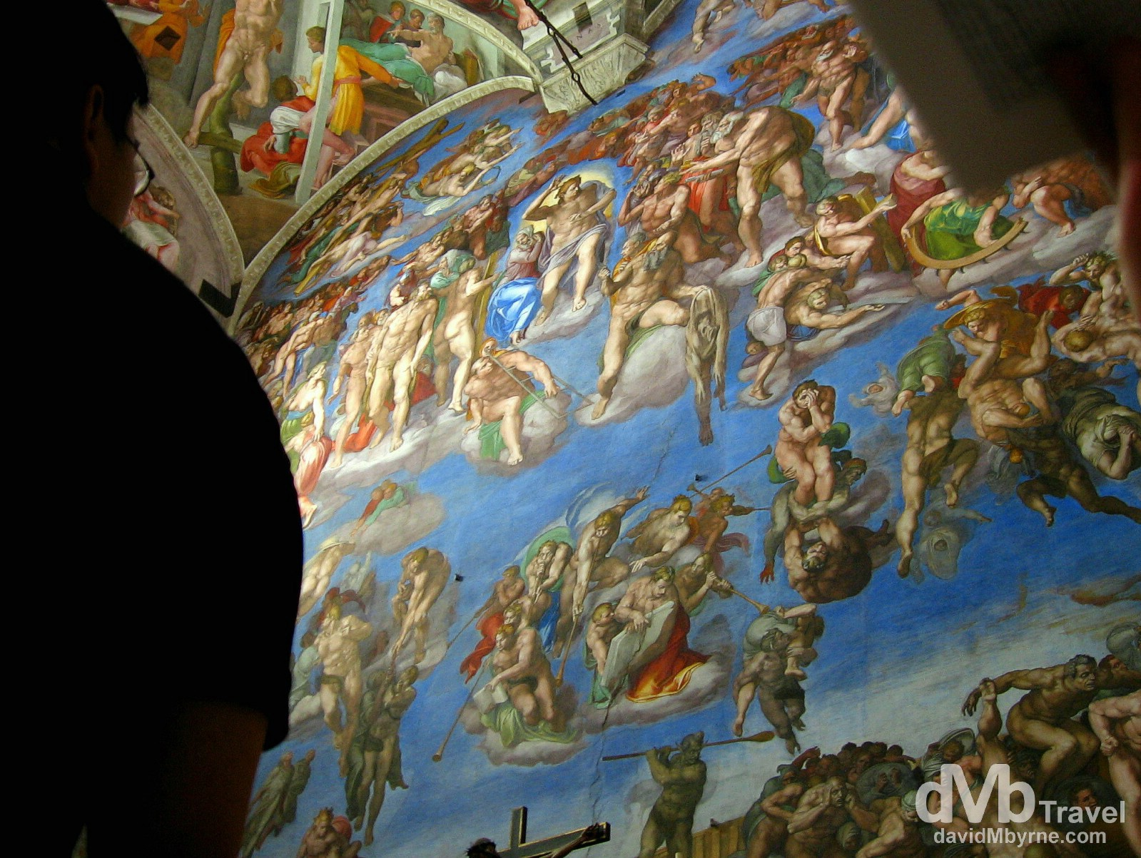 Michelangelo's The Last Judgement in the Sistine Chapel, Vatican City. September 3rd, 2007.