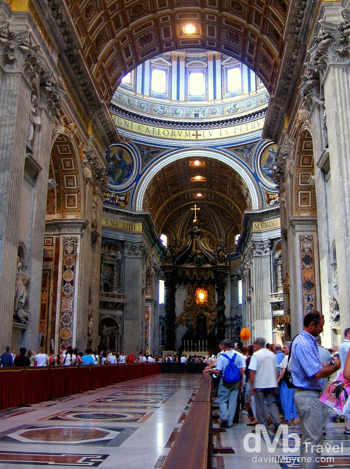 The interior of St. Peter's Basilica, Vatican City. September 3rd, 2007.