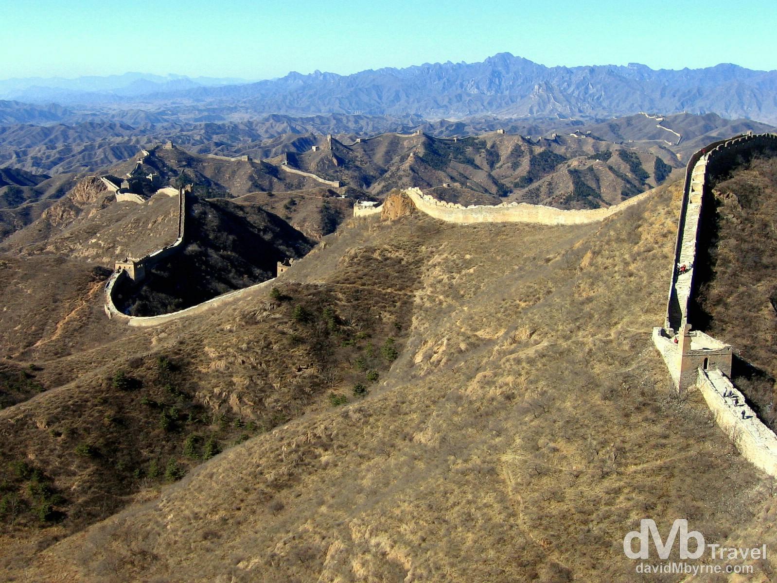 A section of The Great Wall at Jinshanling, China. February 17th, 2008.