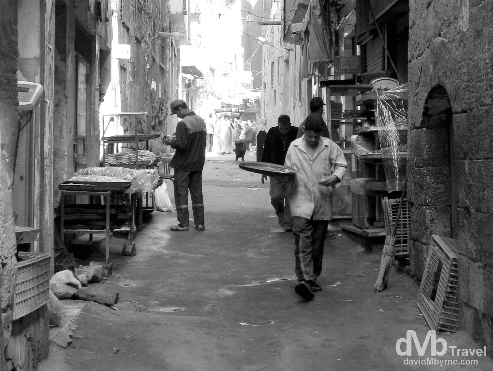 A busy lane in the Islamic Cairo area of Cairo, Egypt. April 14, 2008.