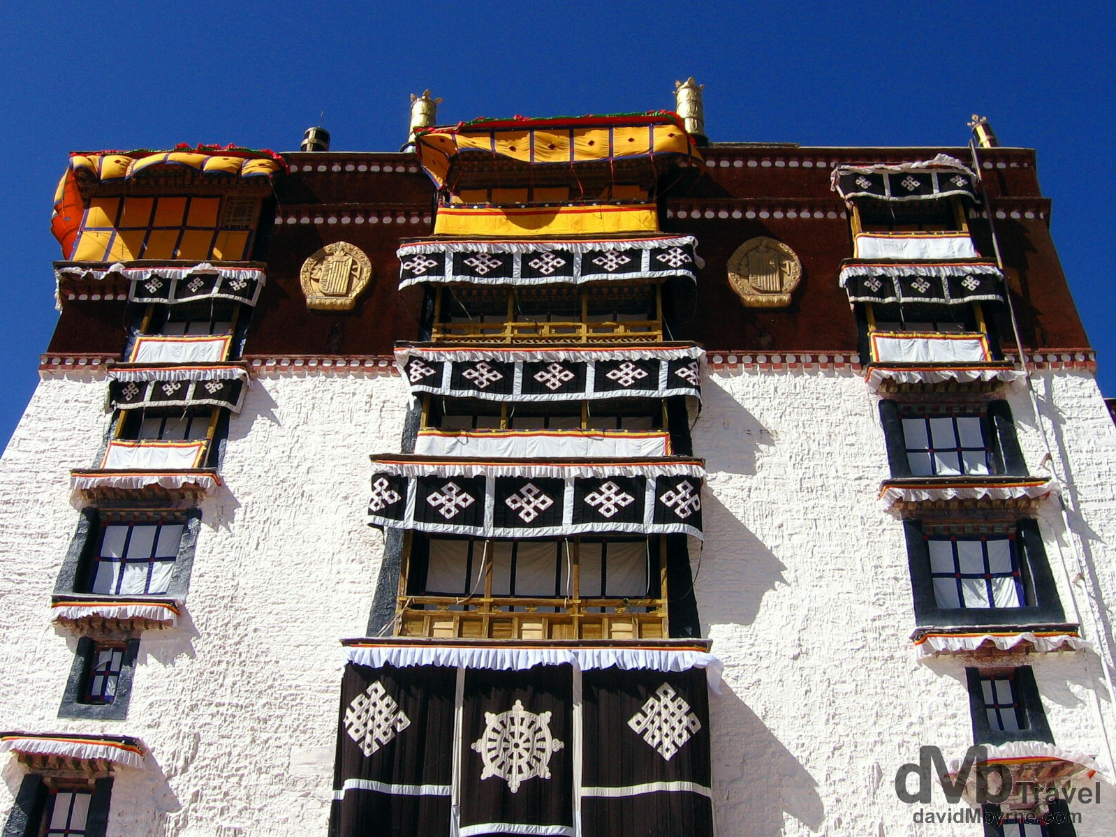 Architecture in Lhasa, Tibet. February 28th, 2008.