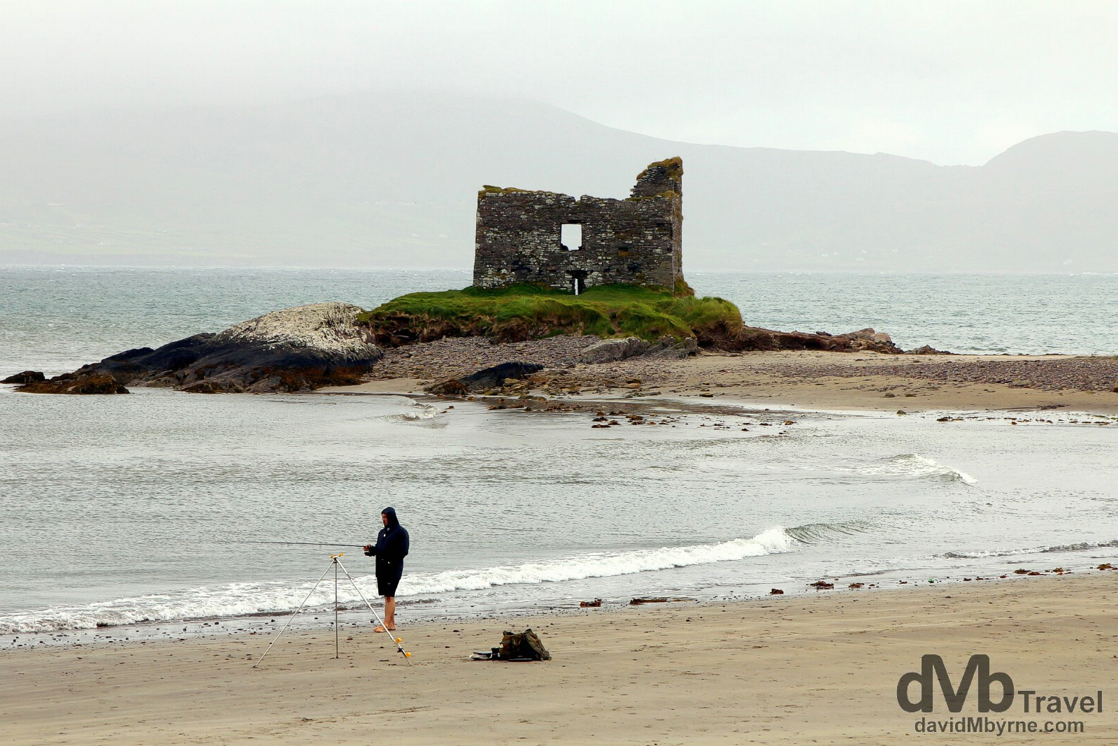 McCarthy's Mor, the famous 'castle on the beach', in Ballinskelligs, Co. Kerry, Ireland. August 28, 2014.