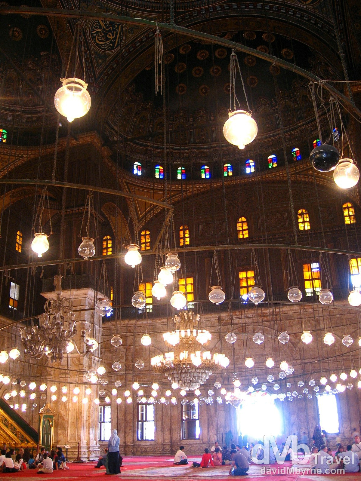 The interior of the Mohammed Ali Mosque, Saladin Citadel, Cairo, Egypt. April 14, 2008.