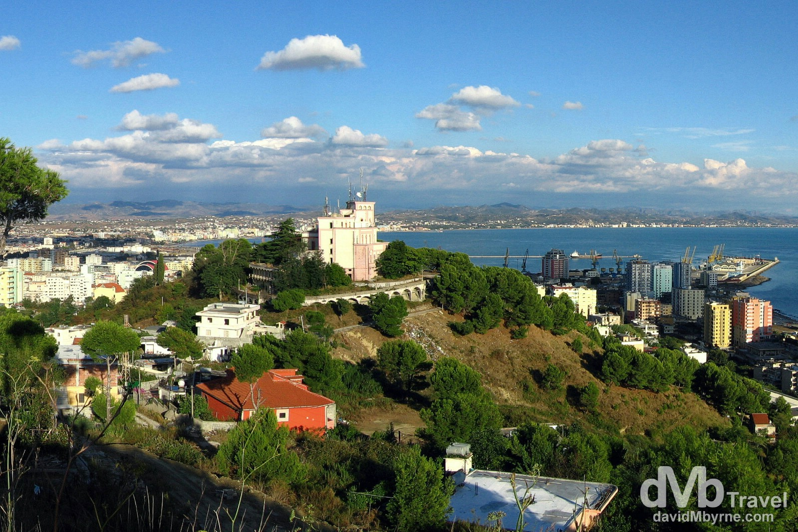 The port of Durres, Albania's second city, from a viewpoint overlooking the city. September 7th, 2007.