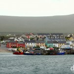 Portmagee as seen from Valencia Island, Co. Kerry, Ireland. August 29, 2014.