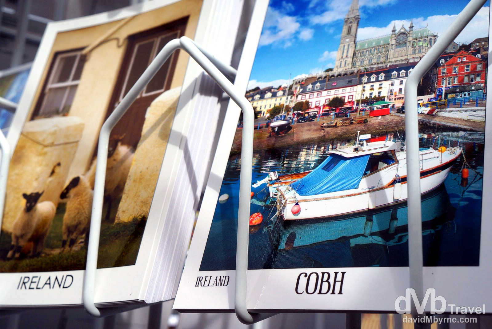 Postcards on sale in Cobh, Co. Cork, Ireland. August 29, 2014.