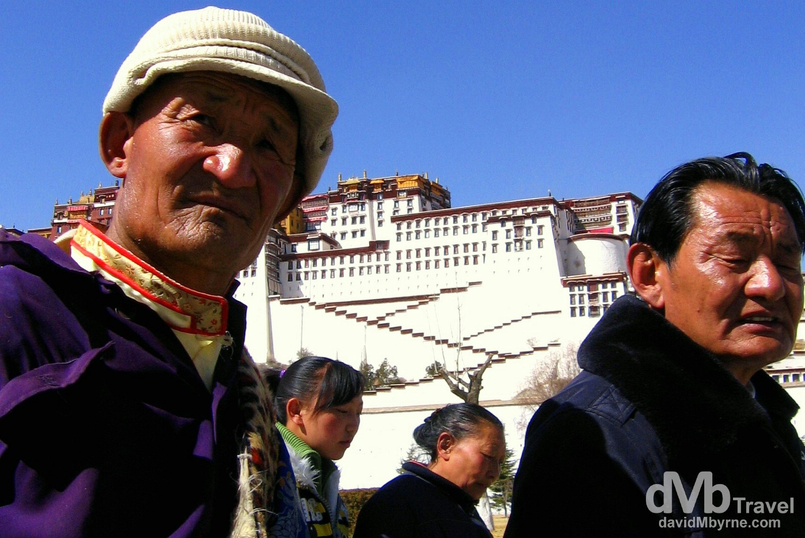 Fronting the Potala Palace in Lhasa, Tibet. February 25th, 2008.