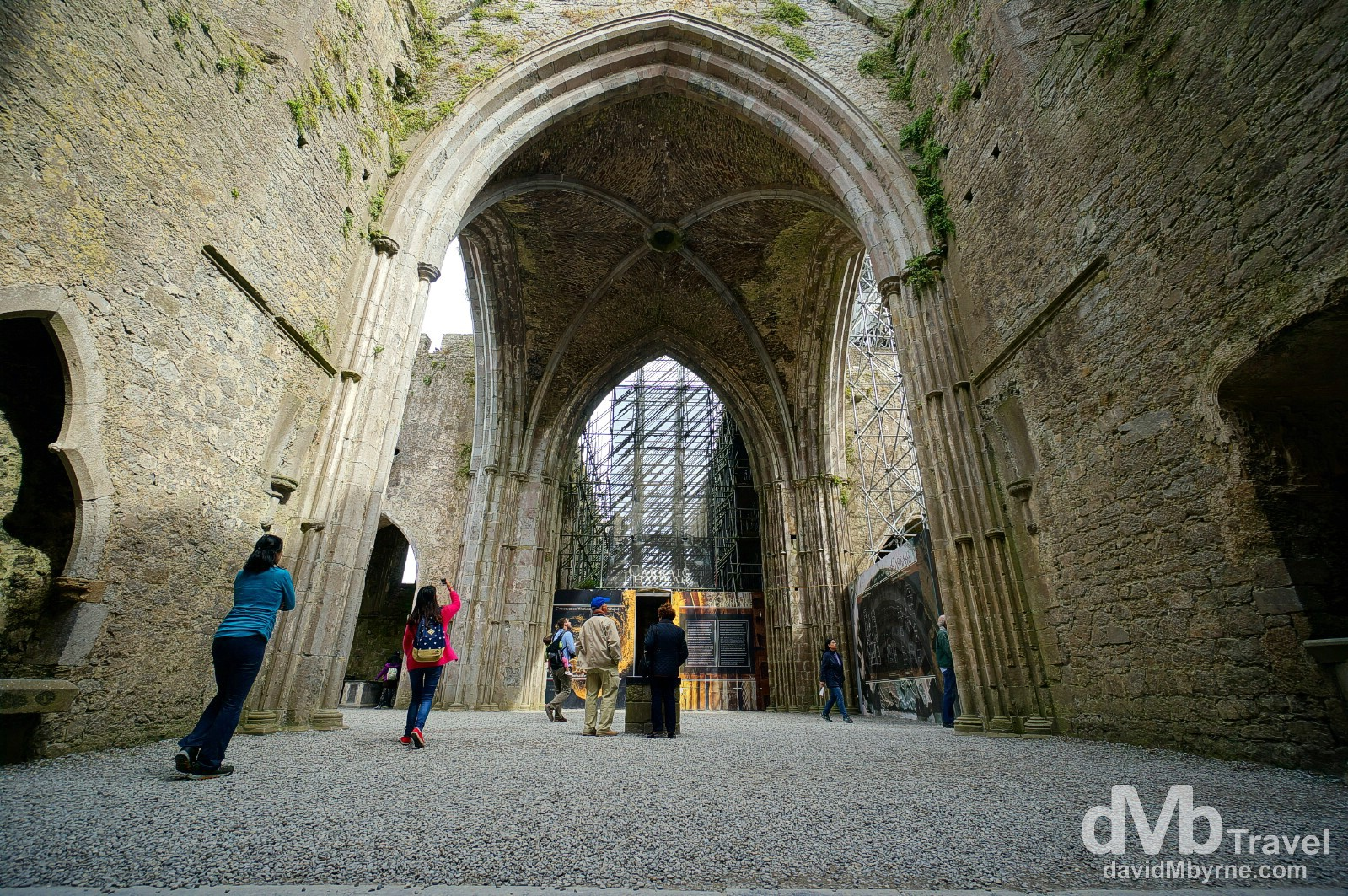 Inside the 13th century Gothic Cathedral of the Rock of Cashel, Cashel, Co. Tipperary, Ireland. August 30, 2014.