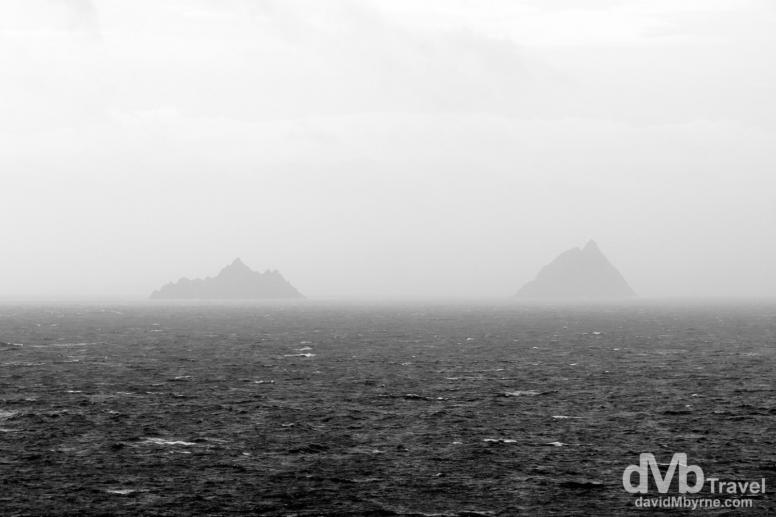 The Skellig Islands as seen from Bray Head car park on Valencia Island, Co. Kerry, Ireland. August 28, 2014.