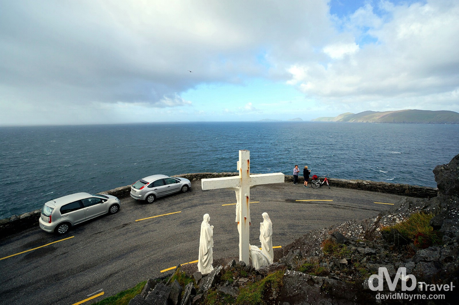 The cross at Slea Head, Dingle Peninsula, Co. Kerry, Ireland. August 28, 2014.