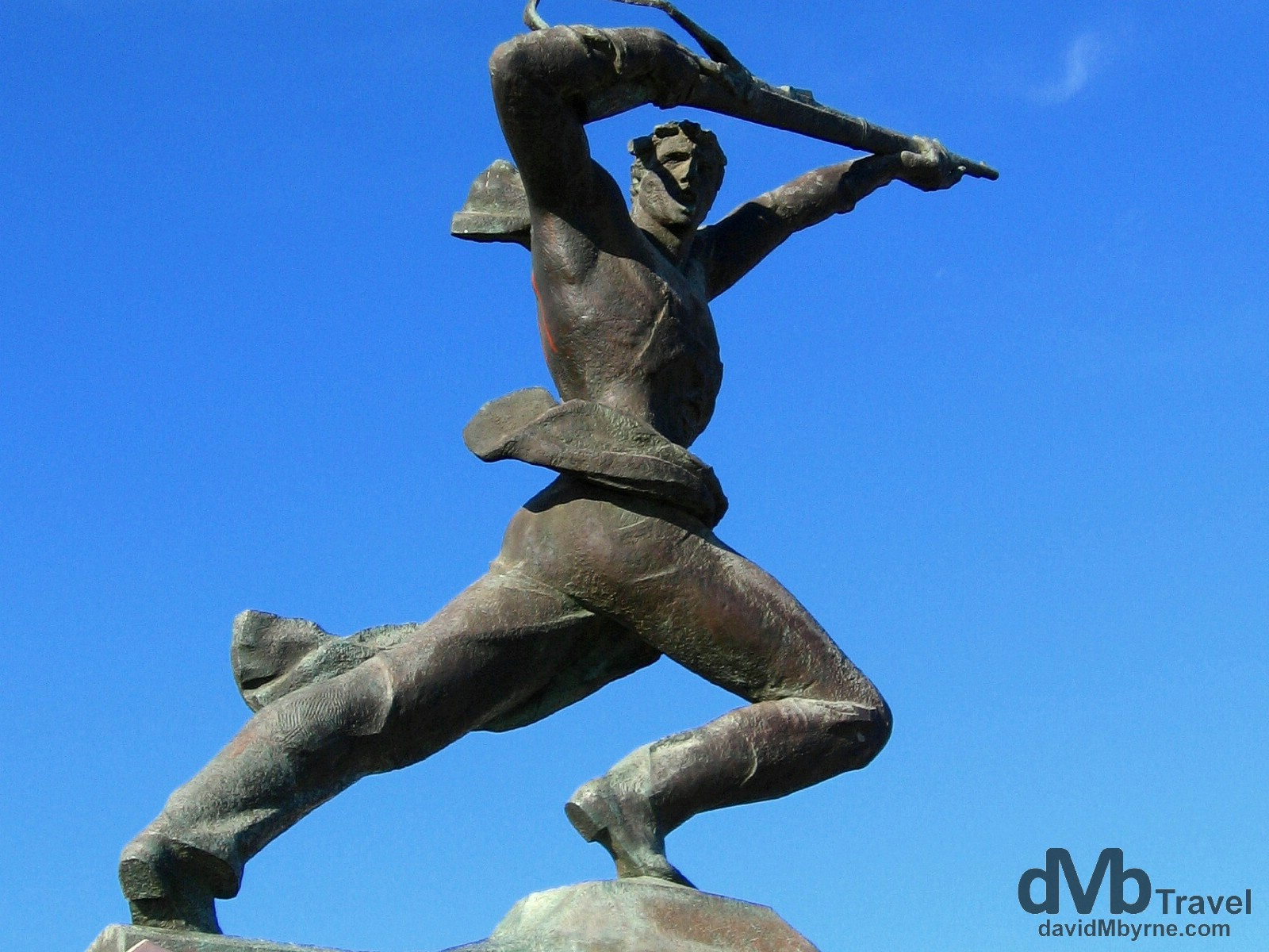 A Communist era statue along the waterfront in Durres, Albania. September 7th, 2007.