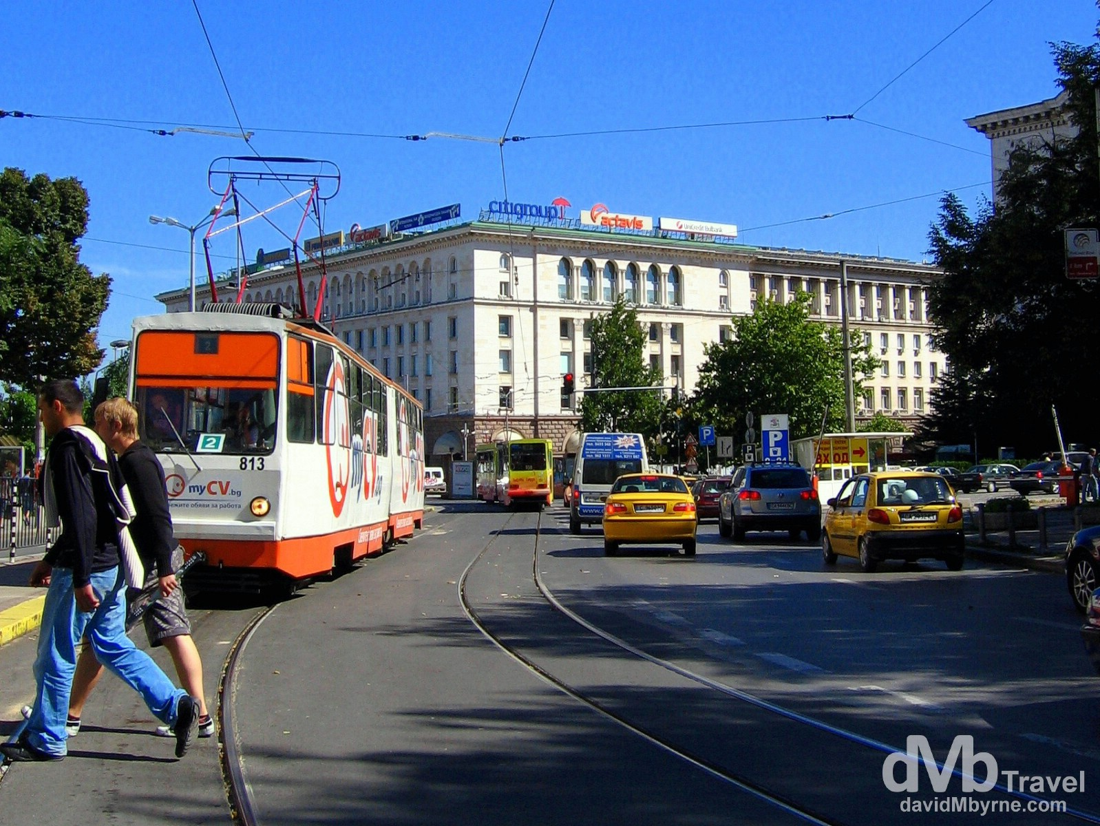 On the streets of Sofia, Bulgaria. September 16th, 2007.