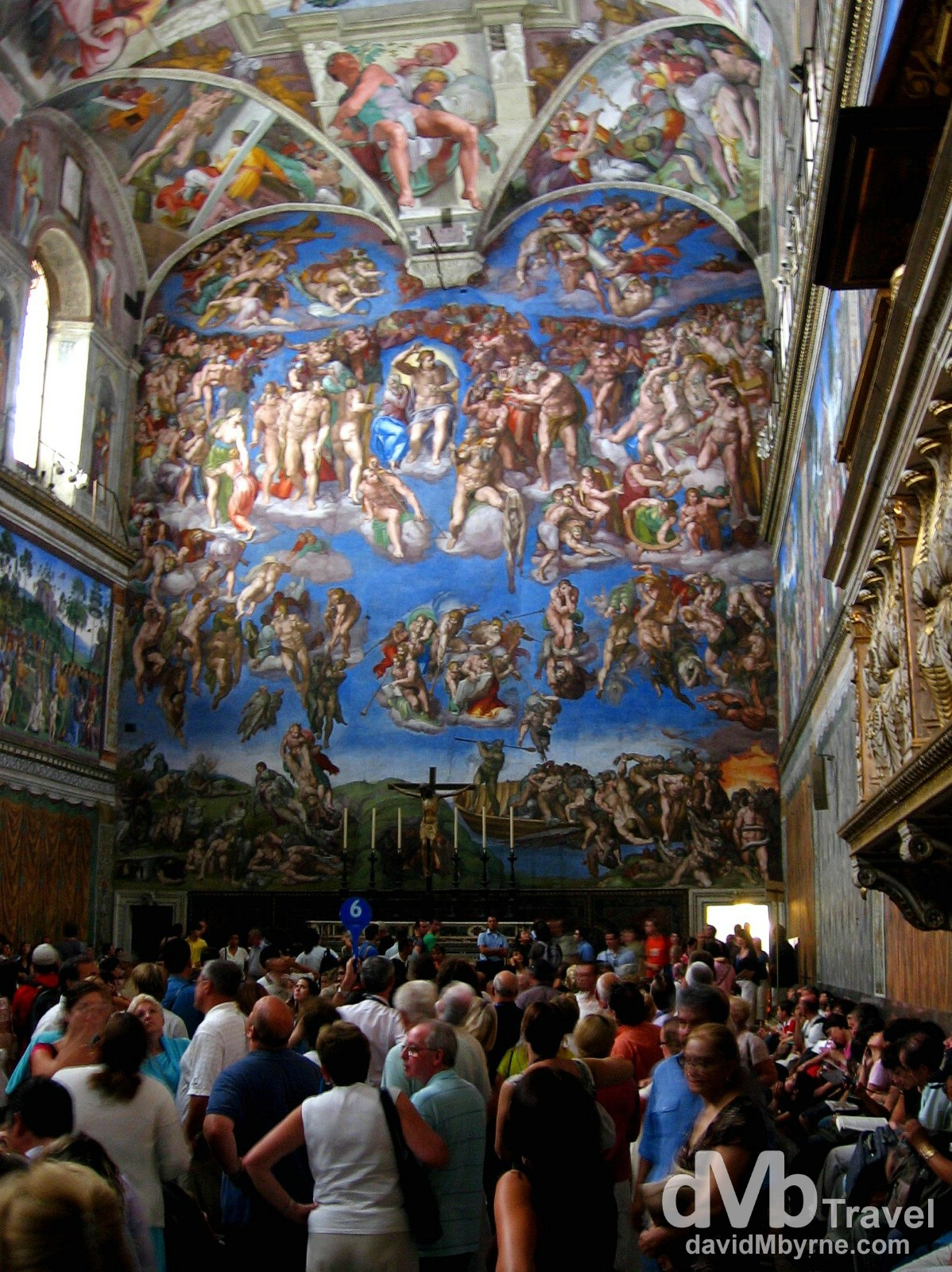 Inside the Sistine Chapel, Vatican City. September 3rd, 2007.