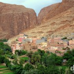 The village of Tizgui at the entrance to Todra Gorge, Morocco, May 16th, 2014.