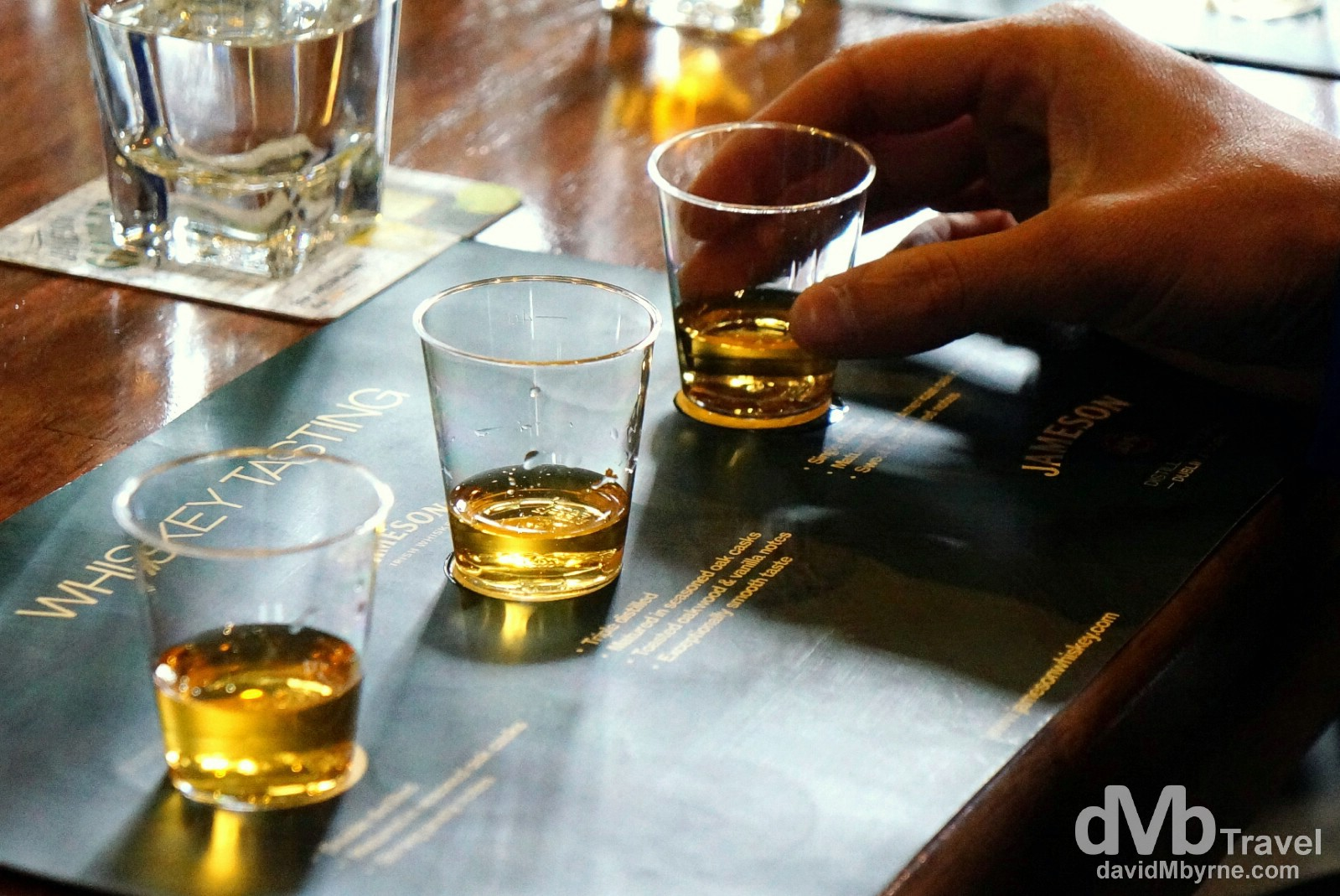 Irish vs Scottish vs American. Whiskey tasting at the Jameson Distillery in Midleton, Co. Cork, Ireland. August 30, 2014.