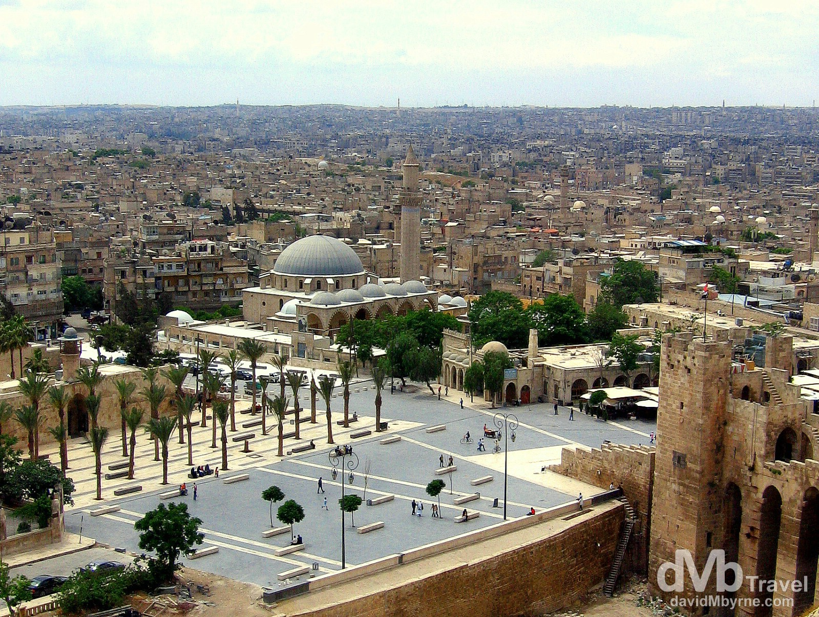The Syrian city of Aleppo as seen from the walls of the city's fort. Aleppo, Syria. May 9, 2008.