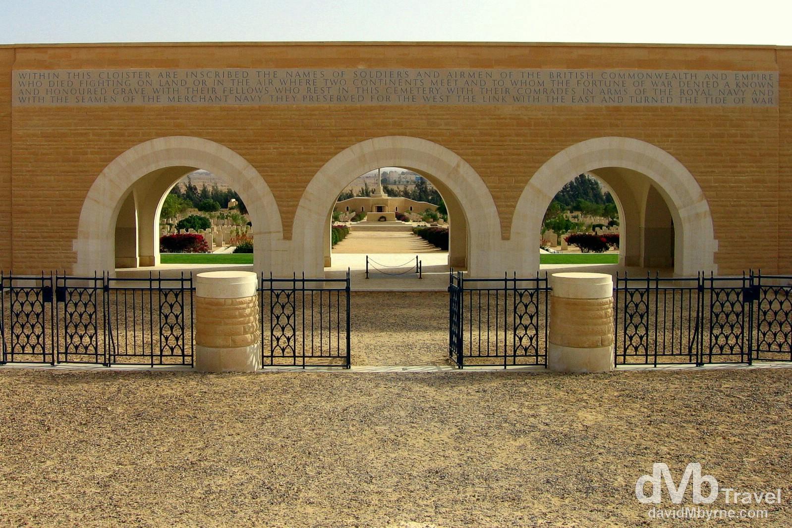 Allied War Cemetery, El-Alamein, Egypt. April 15, 2008.