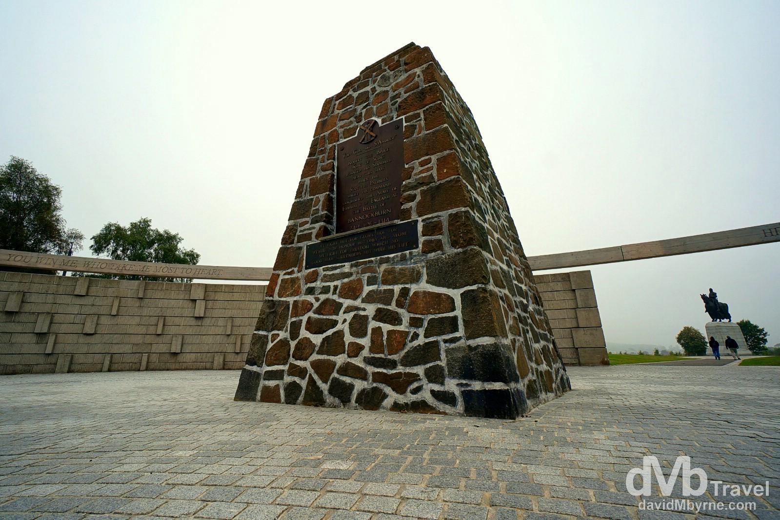 Battle of Bannockburn memorial, Bannockburn, Scotland. September 12, 2014.