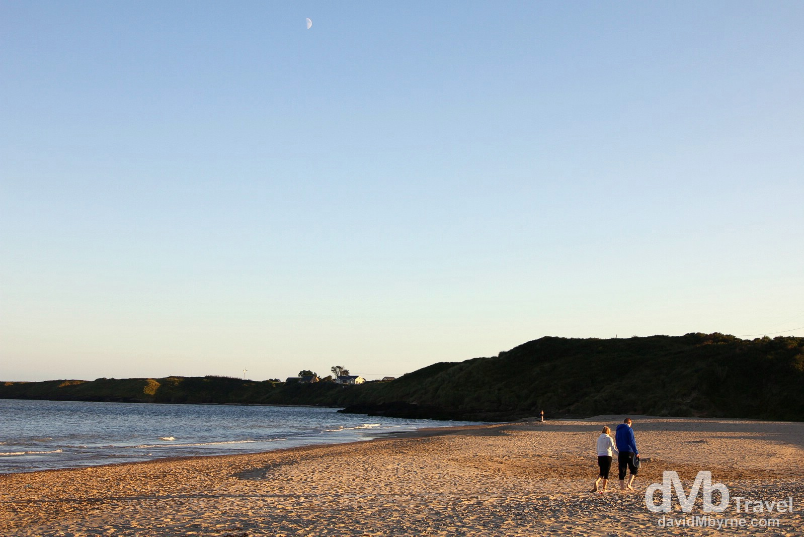 An evening stroll (& long shadows) on the beach at Brittas Bay, Co. Wicklow, Ireland. September 2, 2014.