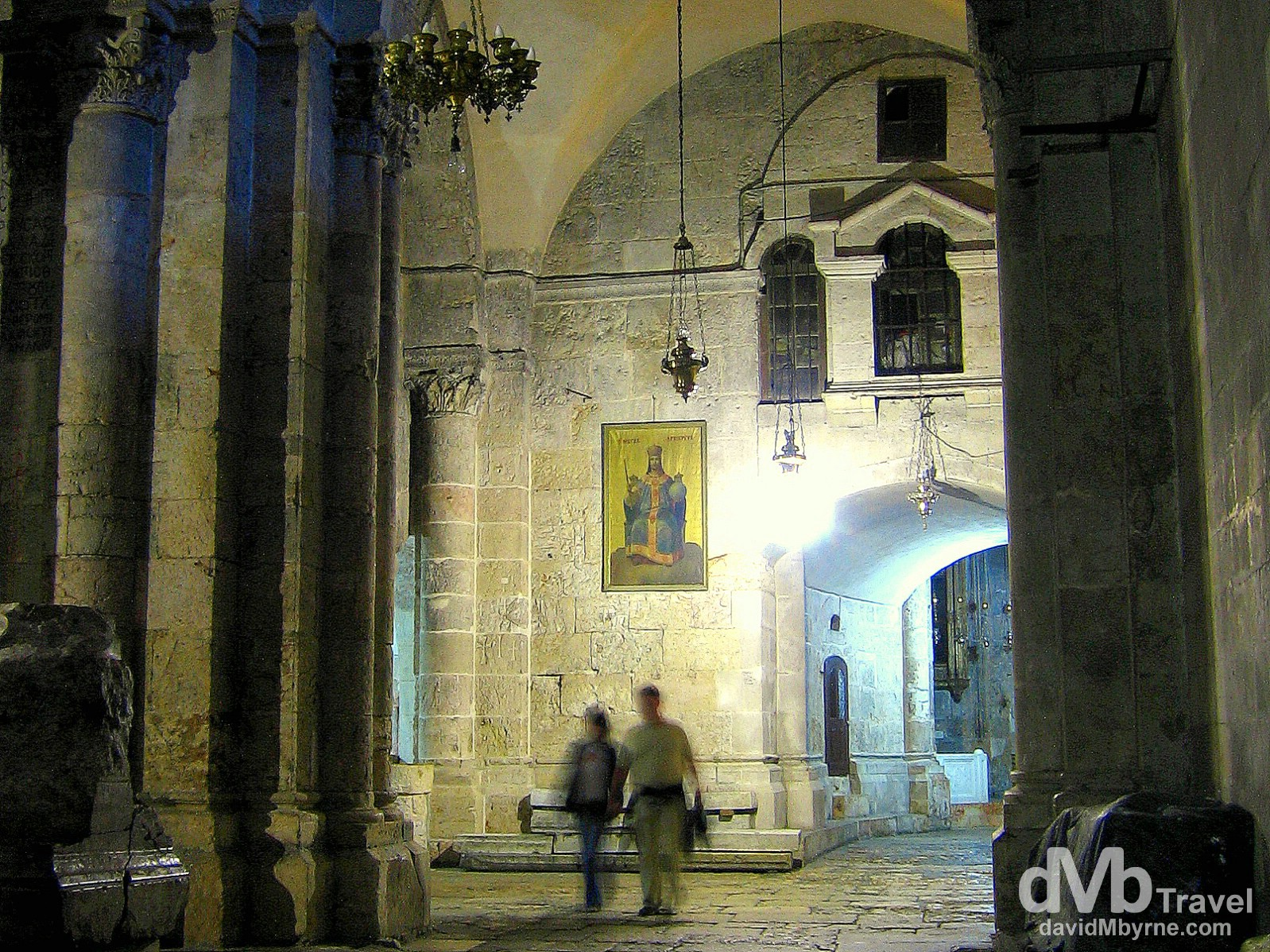 A section of the interior of the Church of the Holy Sepulchre, Old City, Jerusalem, Israel. May 2, 2008.