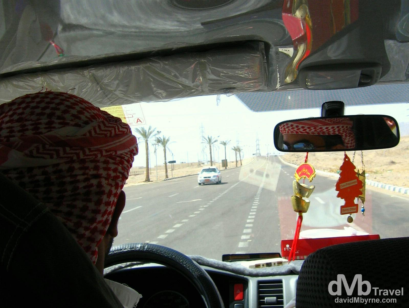 On the road in Nuweiba, Sinai Peninsula, Egypt. April 24, 2008.