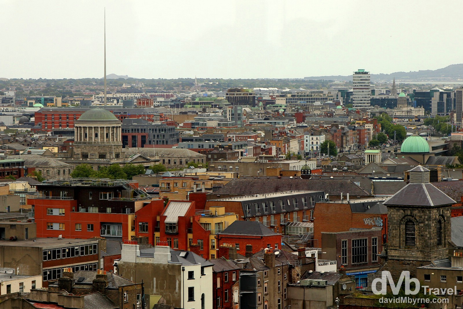 A section of Dublin as seen from the Gravity Bar in the Guinness Storehouse, St. Jame's Gate, Dublin, Ireland. September 1, 2014.