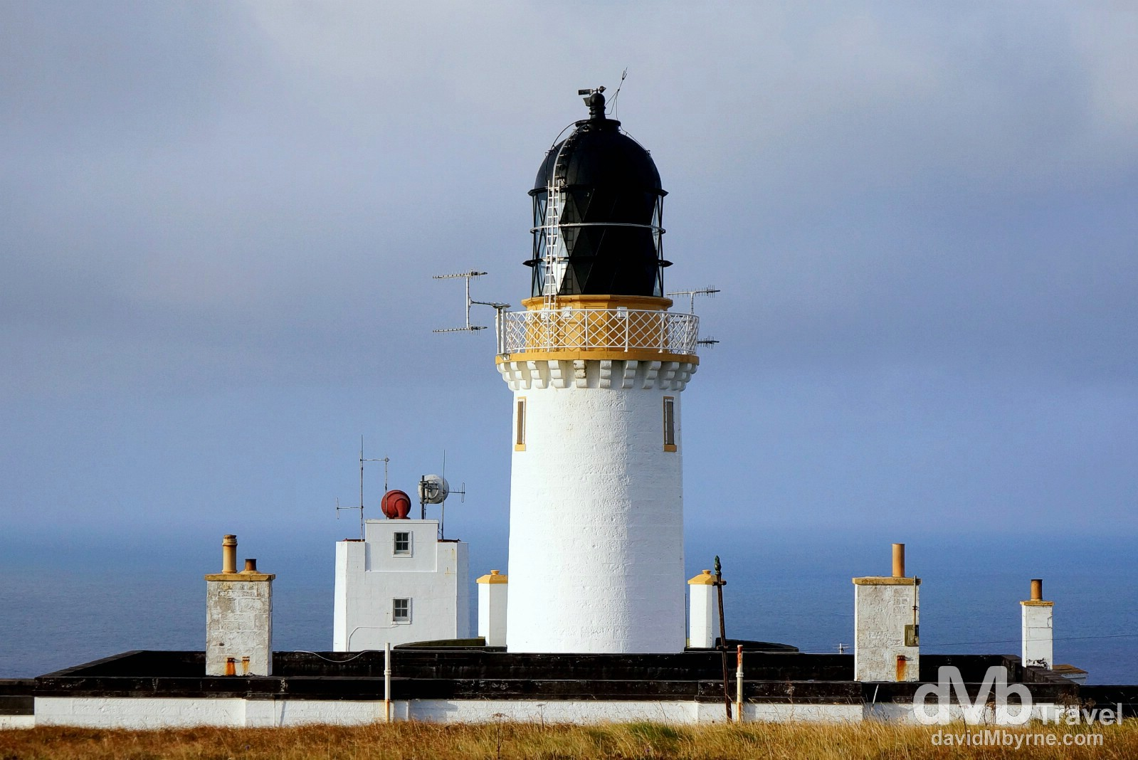 The lighthouse on Dunnet Head, the most northerly point on the British mainland. Dunnet Head, Scotland. September 14, 2014.