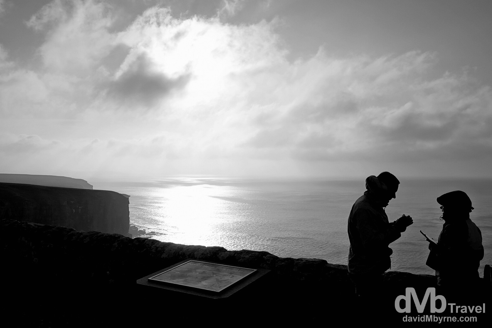Silhouettes at Dunnet Head, the most northerly point on the British mainland. Dunnet Head, Scotland. September 14, 2014.