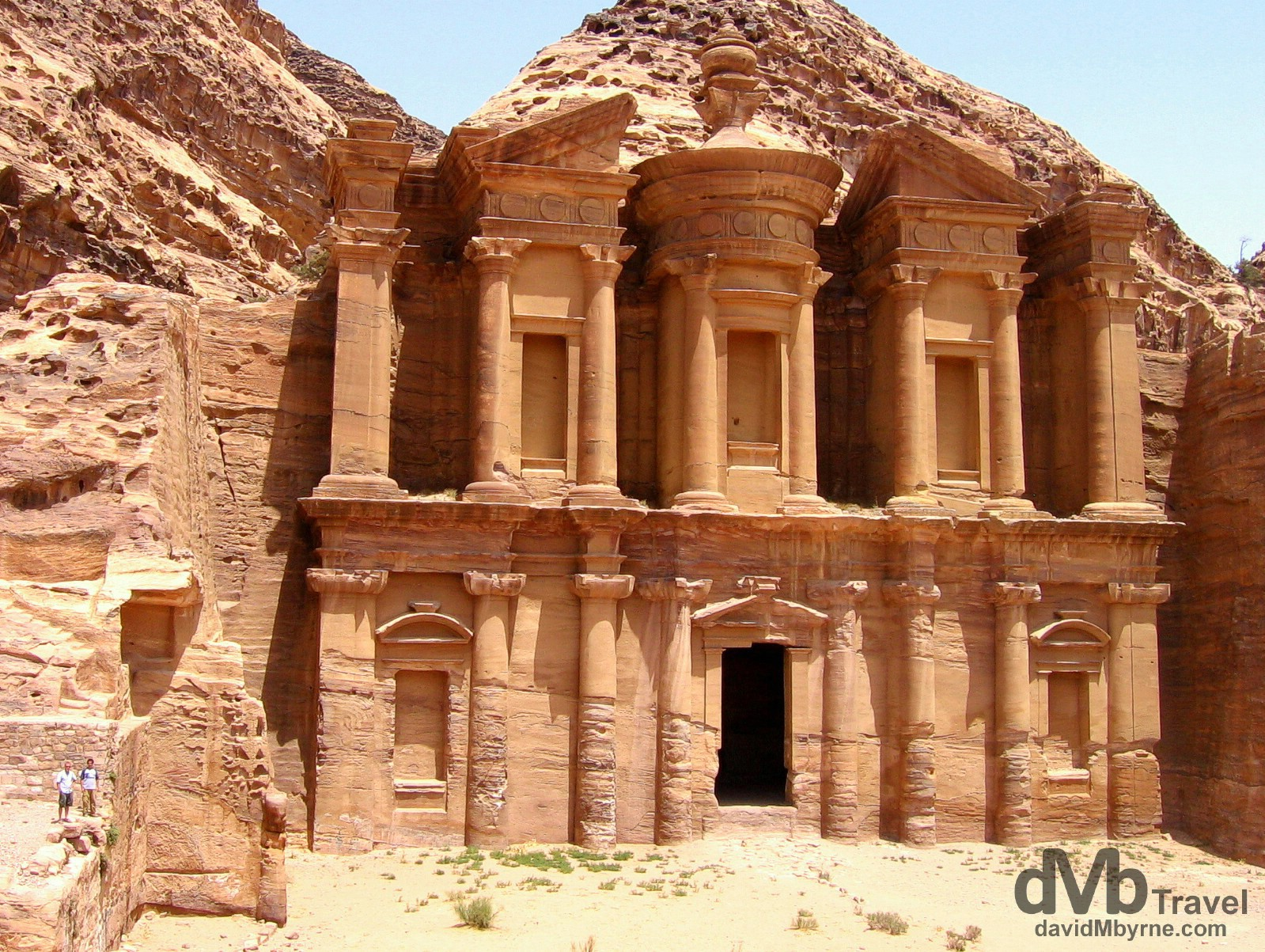El Deir (The Monastery), one of the largest buildings in Petra, Jordan. April 27, 2008.