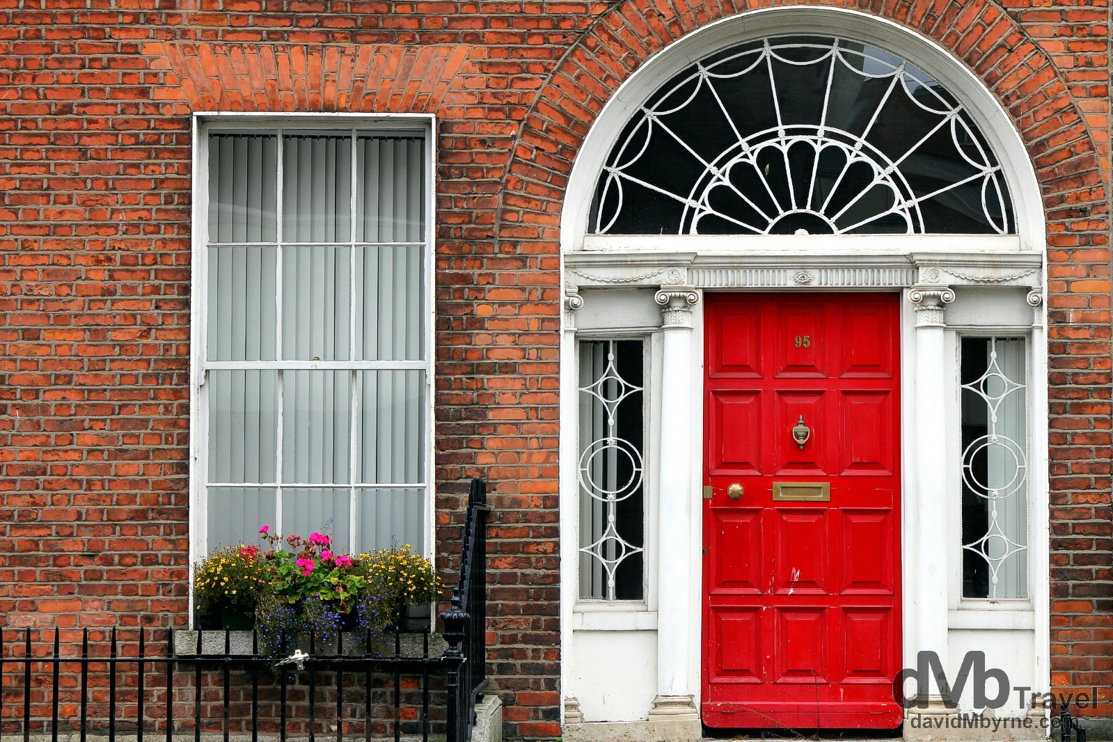 Georgian architecture on Leeson Street Lower, Dublin, Ireland. September 1, 2014.