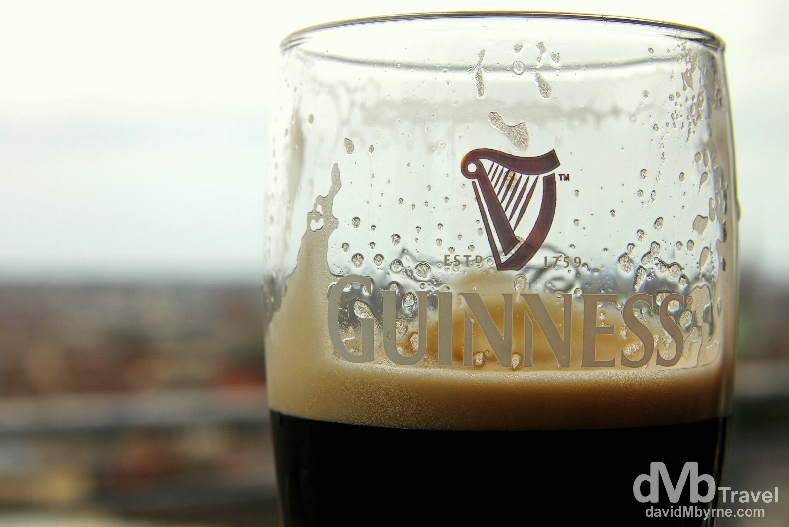 Guinness in the Gravity Bar in the Guinness Storehouse, St. Jame's Gate, Dublin, Ireland. September 1, 2014.