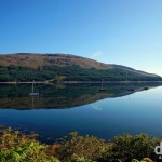 Reflections off the A87 on the Isle of Skye, Scotland. September 17, 2014.