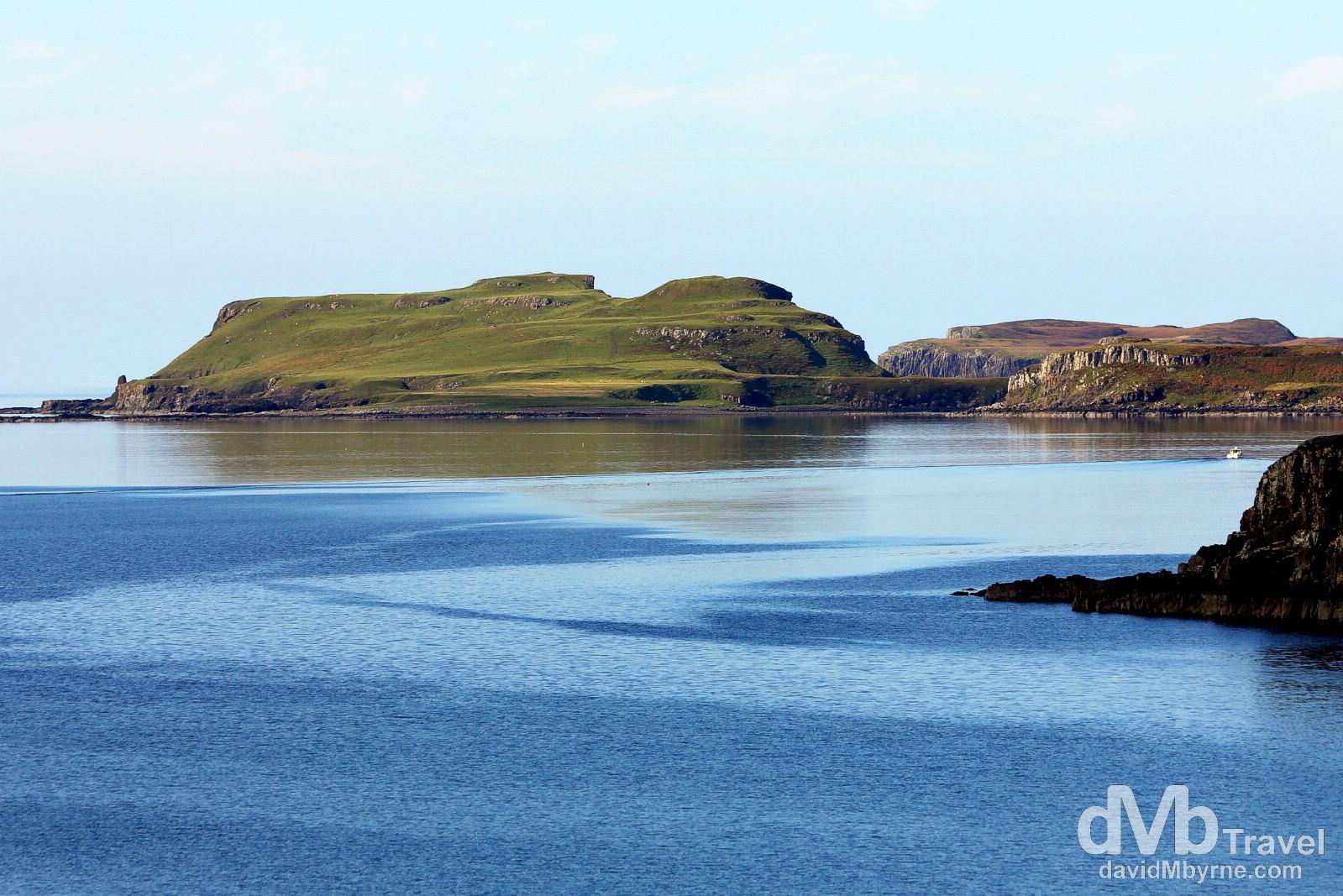 Coastal scenery at Loch Harport on the Isle of Skye, Scotland. September 17, 2014.