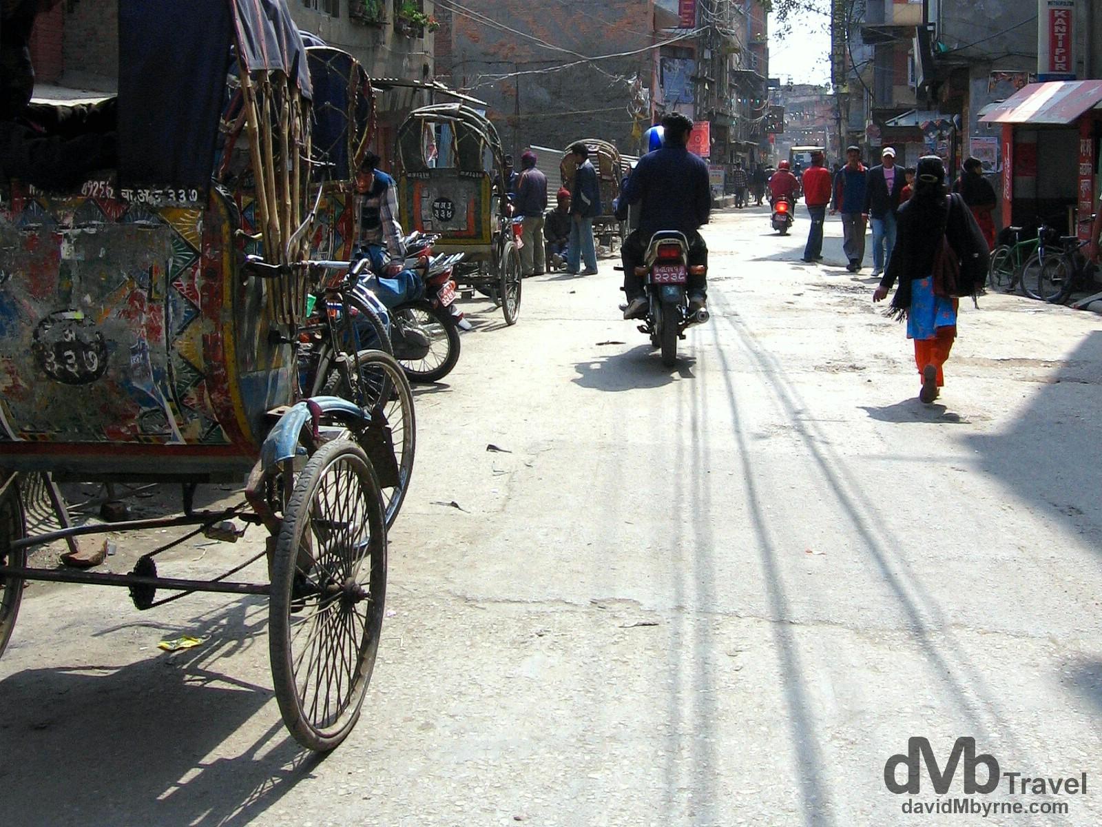 On the streets of Kathmandu, Nepal. March 7, 2008.