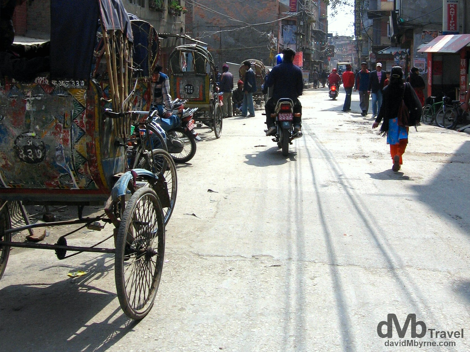 On the streets of Kathmandu, Nepal. March 7, 2008.