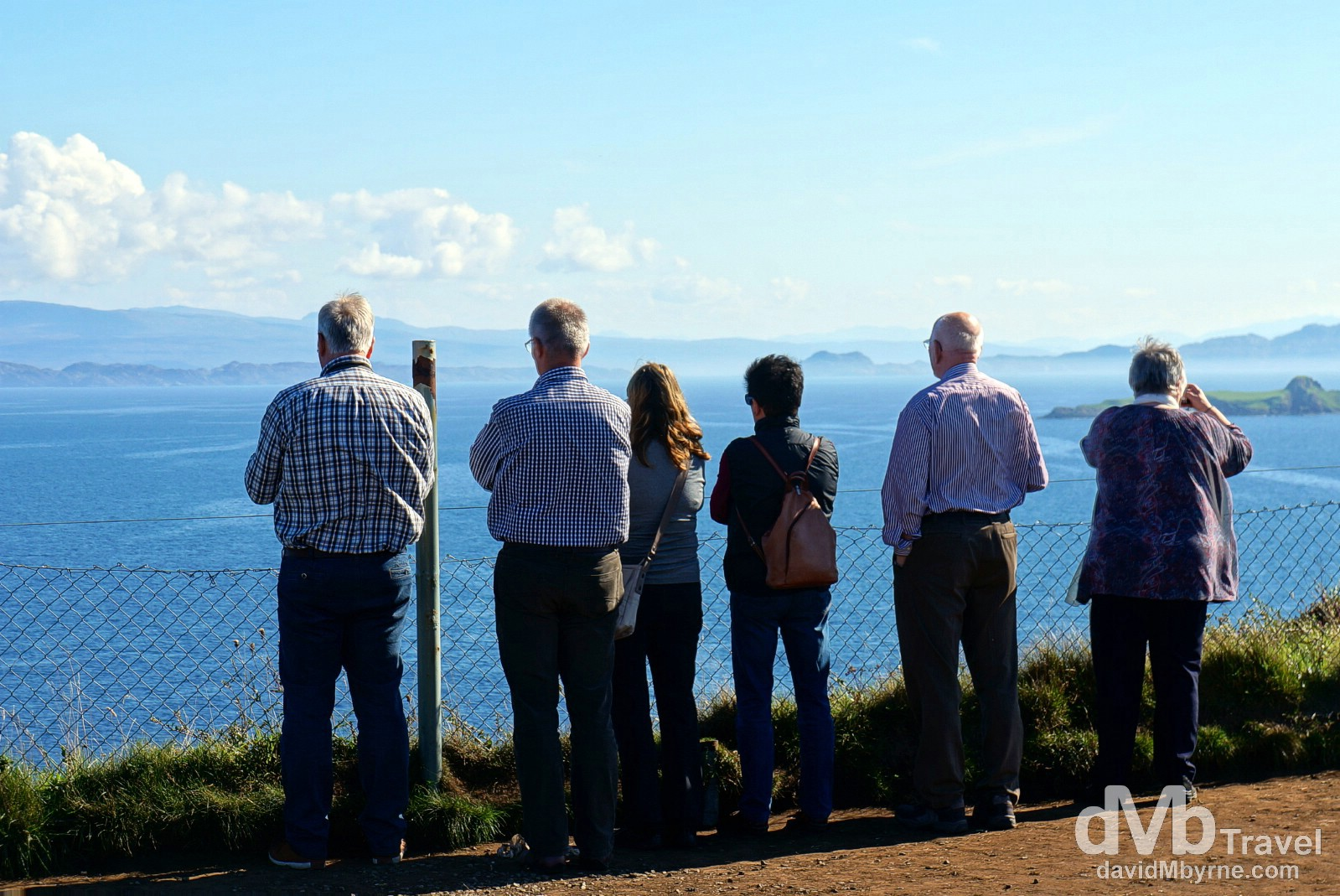 Looking out over the Sound of Raasay from the Kilt Rock viewpoint on the Trotternish Peninsula, Isle of Skye, Scotland. September 17, 2014.