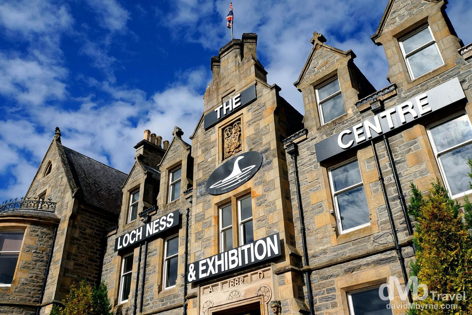 The Loch Ness Exhibition Centre at the Drumnadrochit Hotel in Drumnadrochit, Inverness, Scotland. September 16, 2014.