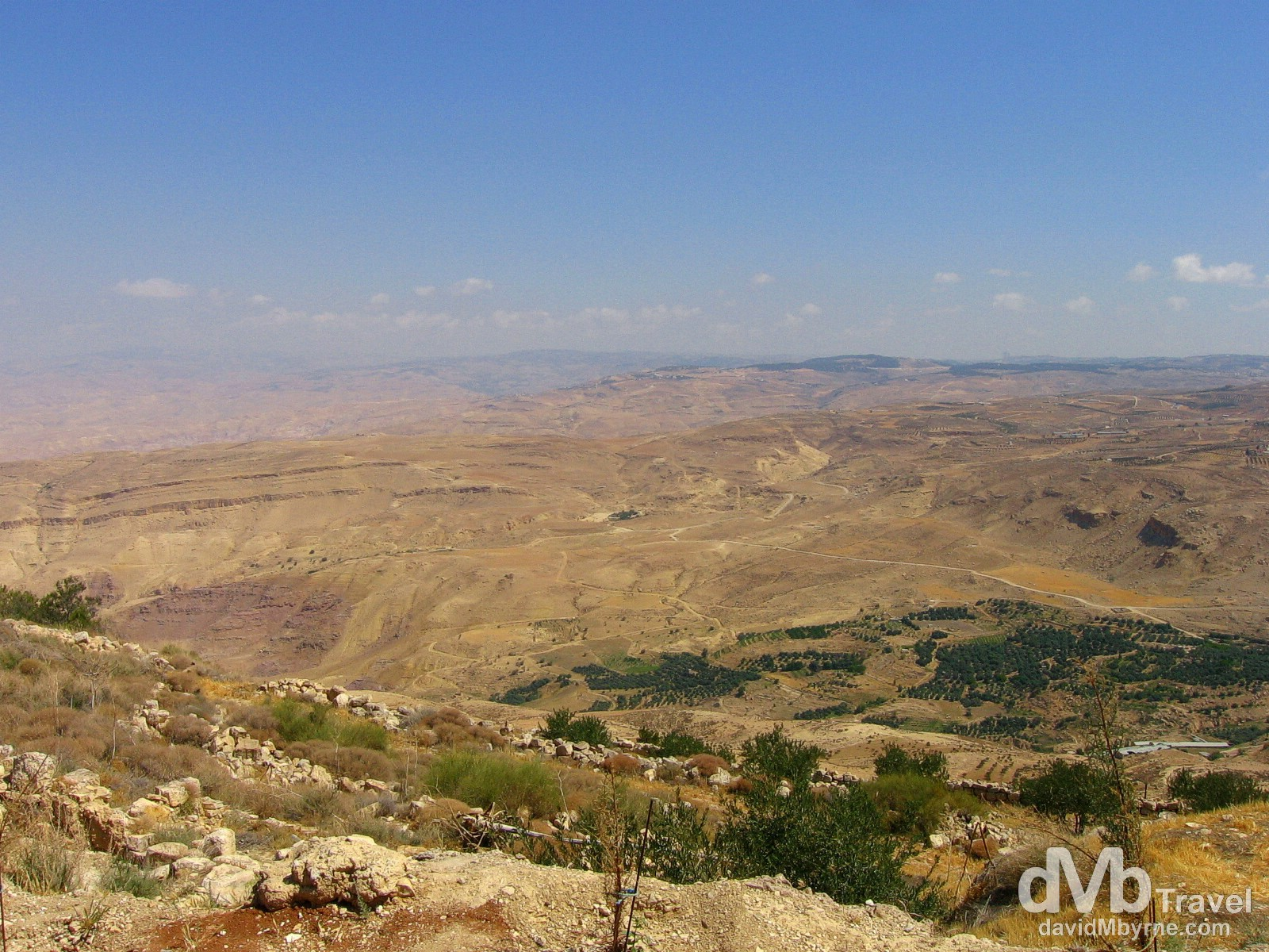 The view of the Promised Land from Mount Nebo near the Israeli/Jordanian border. April 29, 2008.