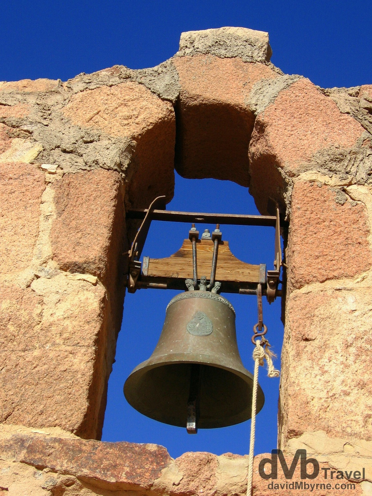 The bell of the church found on the summit of Mt. Sinai, Sinai Peninsula, Egypt. April 22, 2008.