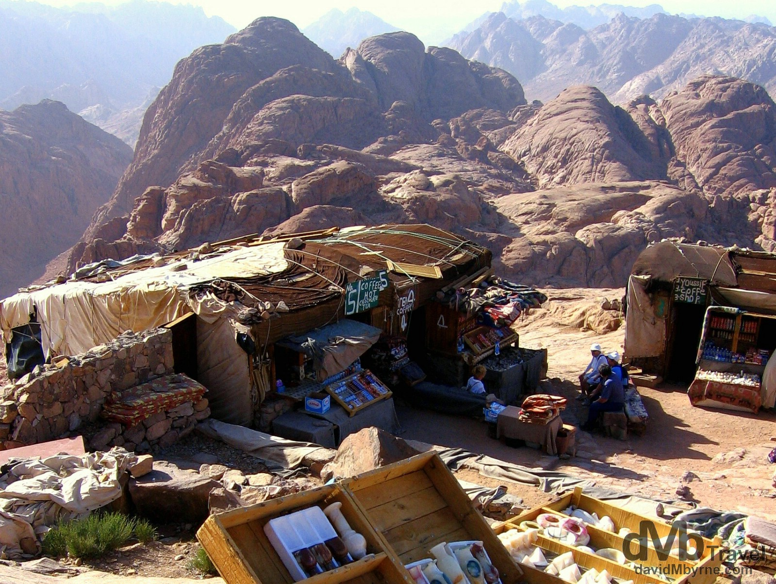 The summit of Mt. Sinai, Sinai Peninsula, Egypt. April 22, 2008.