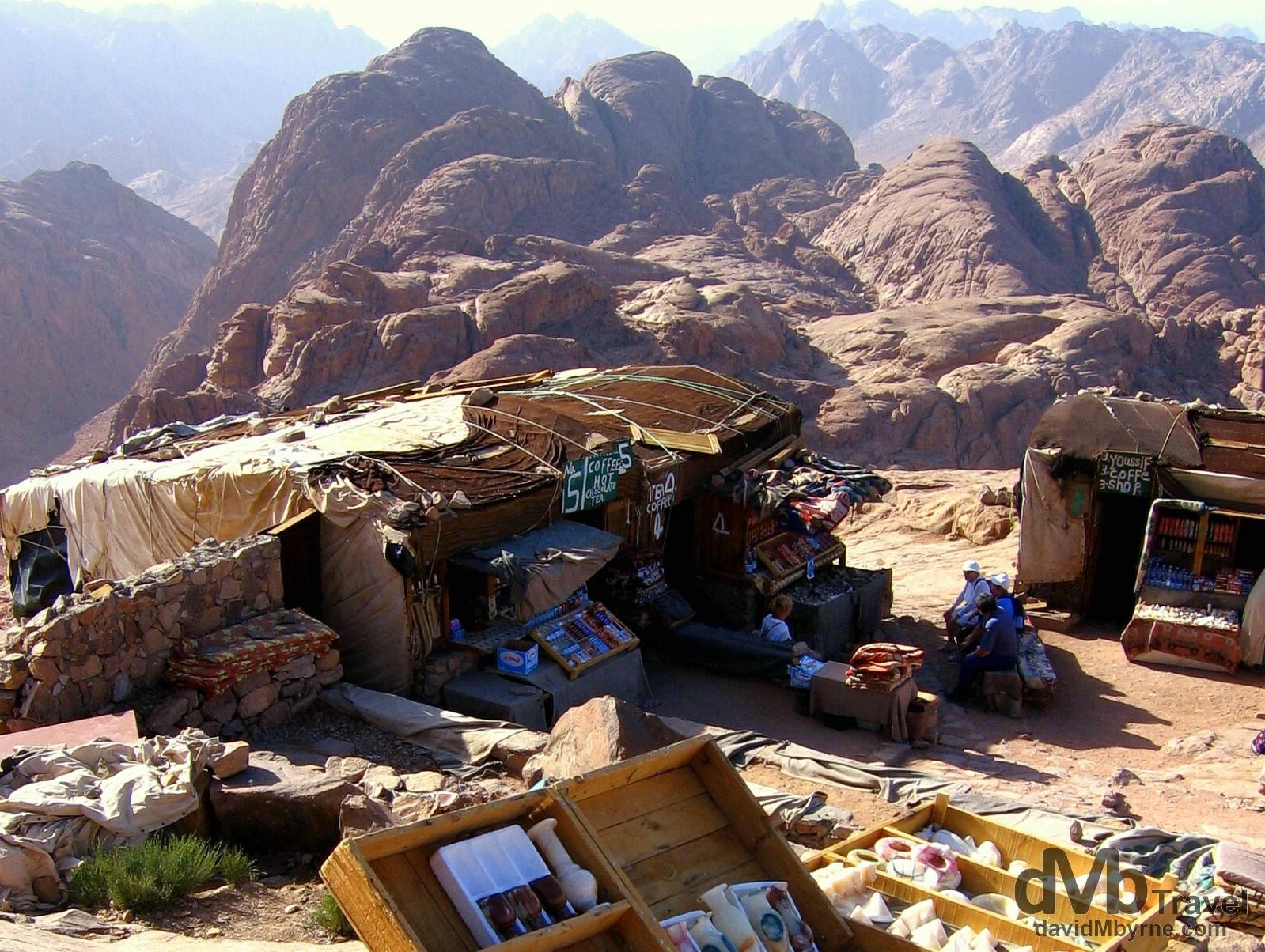 The summit of Mt. Sinai, Sinai Peninsula, Egypt. April 22, 2008.