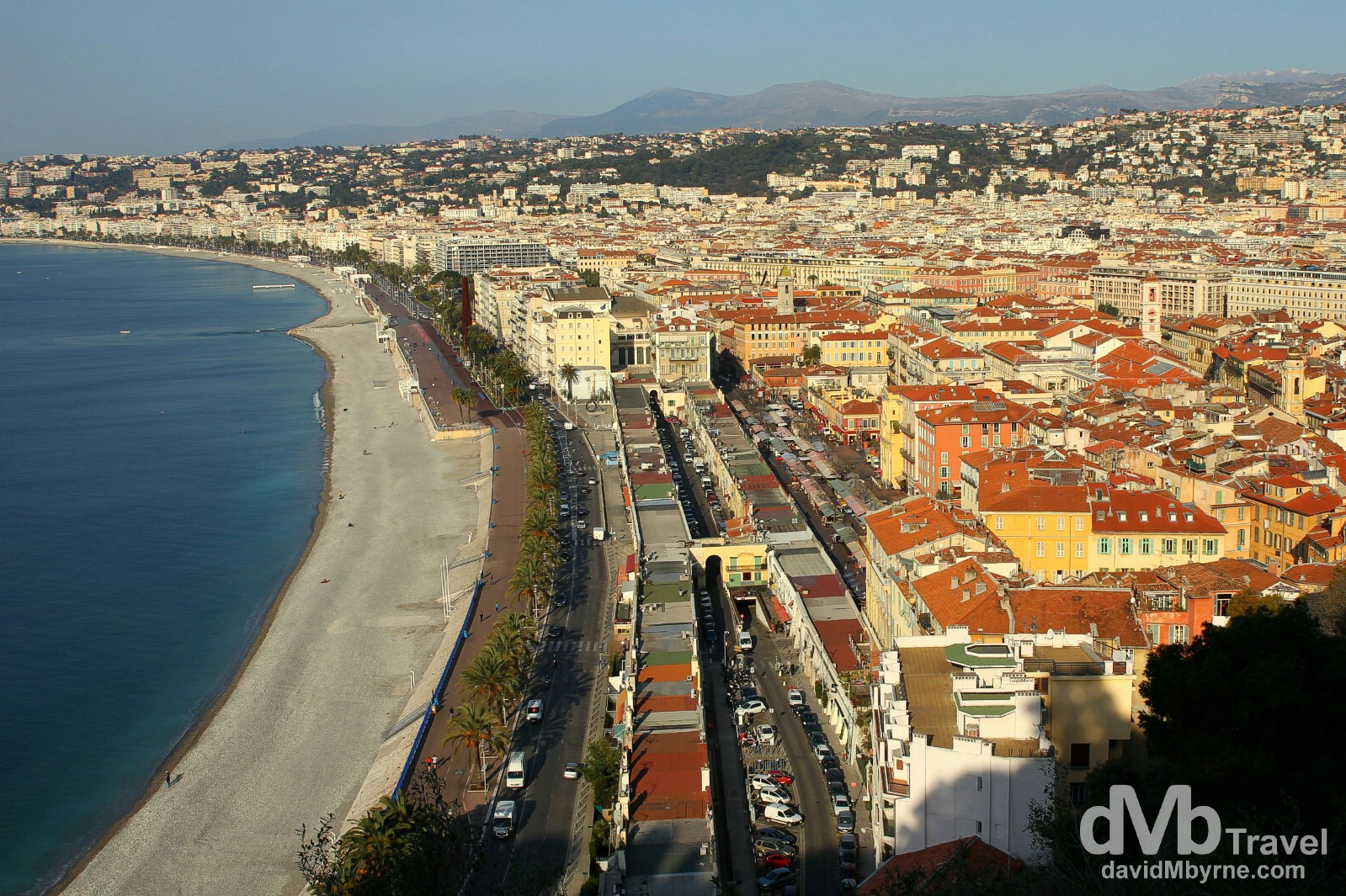 Nice as seen from Parc du Chateau, Nice, Côte d'Azur, France. March 14, 2014.