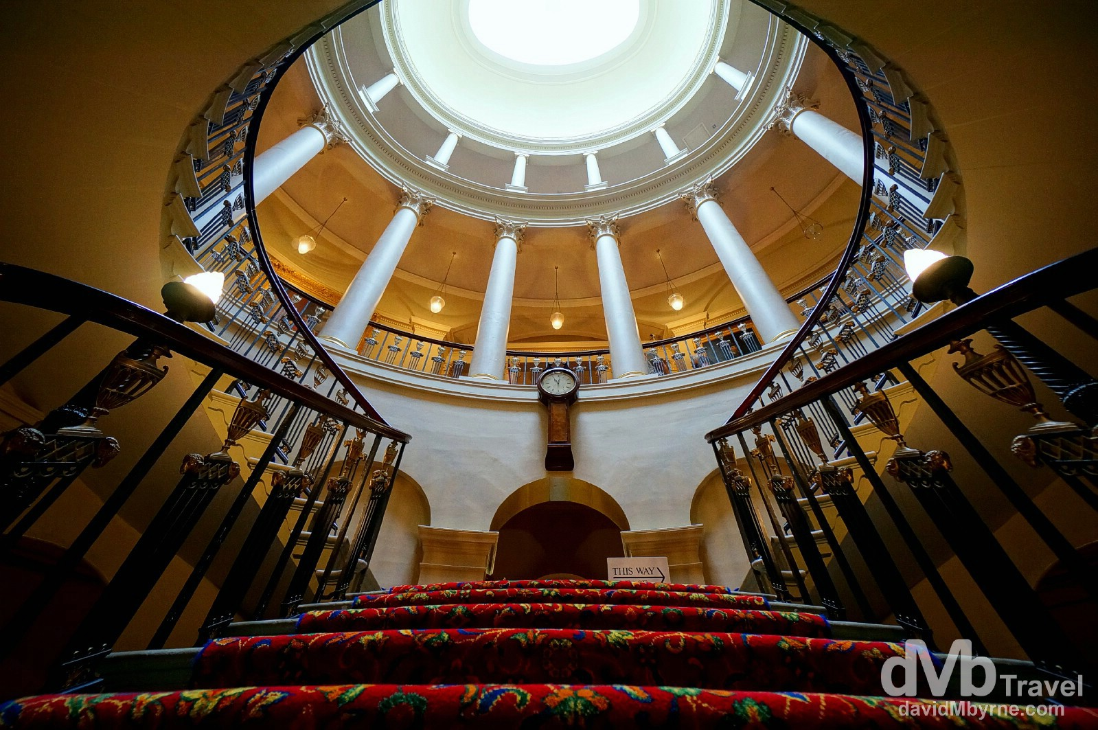 The amazing Oval Staircase of Culzean Castle, Ayrshire, Scotland. September 19, 2014.