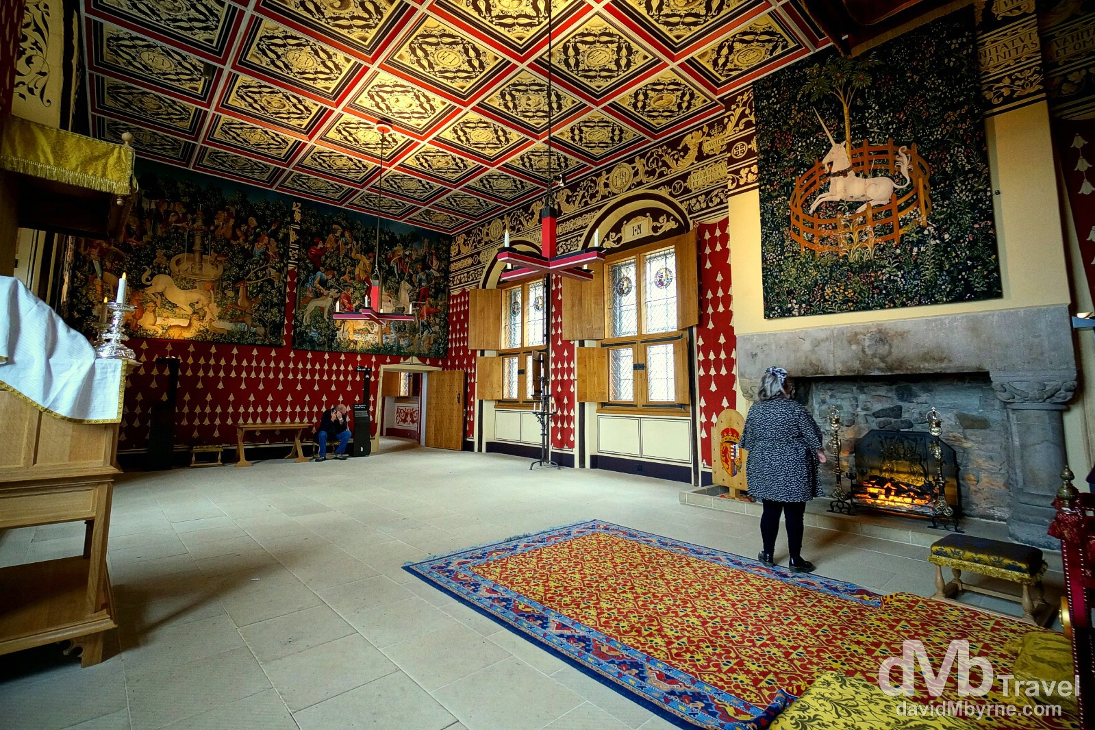 A restored room in the Place of Stirling Castle, Stirling, Scotland. September 12, 2014.